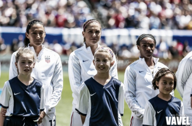 USWNT lines up for the national anthem / Photo Credit: Gary Duncan