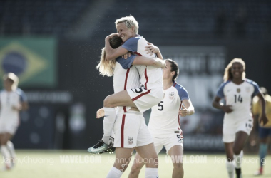 The USA comes back from a 3-1 deficit in a thrilling win against Brazil | Source: Jenny Chuang - VAVEL USA