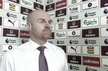 Sean Dyche tras la victoria 2-1 de Burnley ante Leicester. | Foto: Sky Sports.