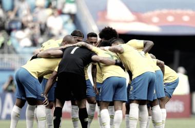 La selección brasileña concentrada antes del partido   Foto: FIFA