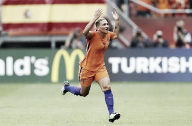 Shanice van de Sanden foi a autora do primeiro gol da Euro 2017 (uefa.com)