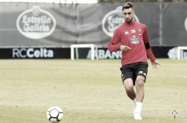 Brais Méndez en un entrenamiento esta temporada/ / R.C.Celta de Vigo