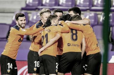 El Valencia se reencuentra con la victoria en el José Zorrilla
