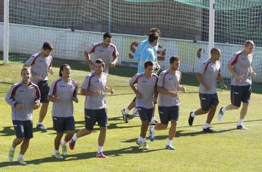 Valverde treina pela primeira vez, em Valência, com portas fechadas