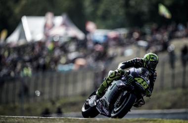 Valentino Rossi en el GP de República Checa Fuente: Monster Energy Yamaha