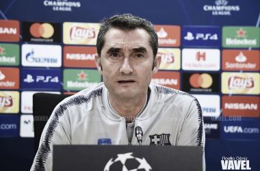 """Ernesto Valverde: """"Esperamos ganar y dedicarle la victoria a Núñez"""""""