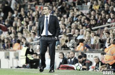 Valverde cumple 100 partidos al frente del FC Barcelona. FOTO: Ernesto Ardilla