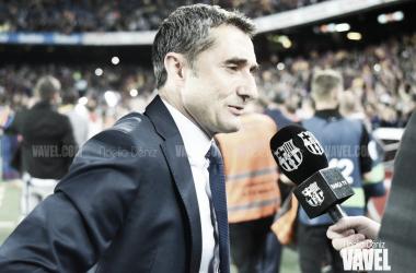 Imagen de archivo. Ernesto Valverde hablando para Barça TV | Foto: Noelia Déniz - VAVEL
