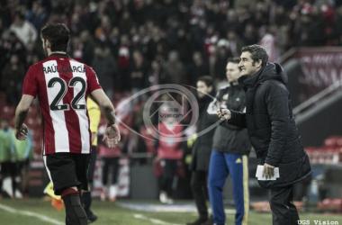 Ernesto Valverde se mostró satisfecho con el trabajo del equipo. | Foto: UGS