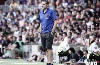 Ernesto Valverde en el Gamper. FOTO: Noelia Déniz.