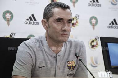 Valverde en rueda de prensa | Foto: Noelia Déniz, VAVEL