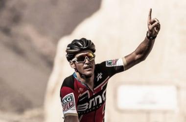 Van Avermaet celebrando la victoria conseguida en la tercera etapa | Foto:Kåre Dehlie Thorstad - ASO
