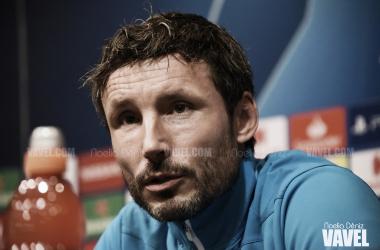 El entrenador del PSV, en la sala de prensa del Camp Nou | Foto: Noelia Déniz - VAVEL