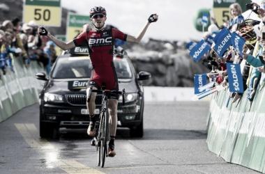 Tejay Van Garderen celebrando su victoria | Foto: Tour de Suiza