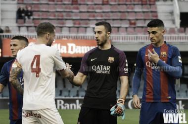 Alberto Varo se estrenó con el Barça B ante el Mallorca B   Foto: Noelia Déniz - VAVEL