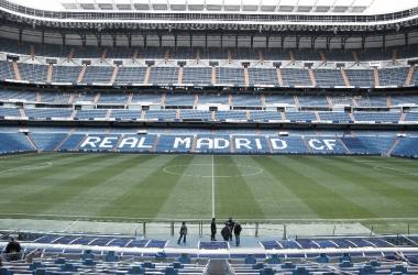 El estadio Santiago Bernabéu visto desde una platea. Foto: Wikipedia.