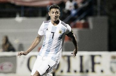 El capitán de Argentina sub-20, en acción. Foto: Marca.