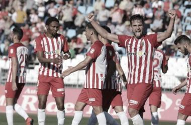 Álvaro Giménez fue el mejor del partido. Fuente: UD Almería