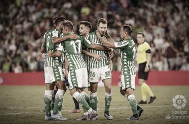 Jugadores del Real Betis Balompié/ Fuente: La Liga Santander