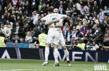 CR7 e Benzema voltaram a marcar na mesma partida