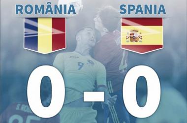 Romênia e Espanha empatam sem gols em jogo de muitas chances perdidas