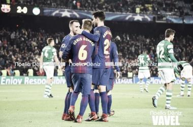 Velho conhecido, Mathieu marca contra e 'mistão' do Barcelona bate Sporting