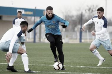 ¿'Pipa' Benedetto jugando su último partido en Boca? Foto: Prensa CABJ.