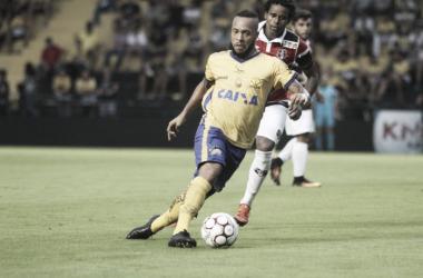 Problema no pé pode afasta-lo da próxima partida   Foto: Caio Marcelo/Criciúma E.C.