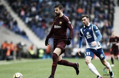 Com Piqué de protagonista, clássico quente entre Espanyol e Barcelona termina empatado