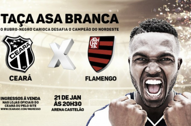 Com promessa de casa cheia, Ceará e Flamengo se enfrentam pela Taça Asa Branca