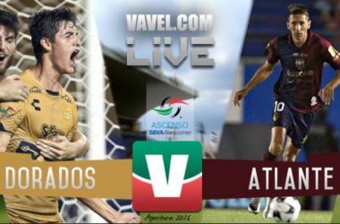 Partido Dorados - Atlante en vivo y en directo en Ascenso MX (0-0) Global (3-2)