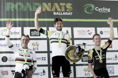Rohan Dennis, Luke Durbridge y Cameron Meyer. TT Australia / Foto: Twiter @Mitcheltonscott
