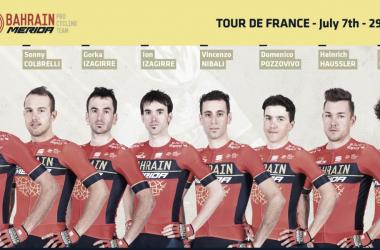 Team Bahrain Merida Tour de Francia 2018/ Foto: Bahrain Merida