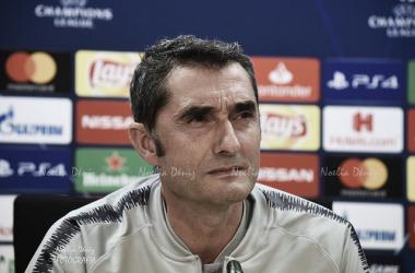Ernesto Valverde, ante los medios | Foto: Noelia Déniz (VAVEL.com)