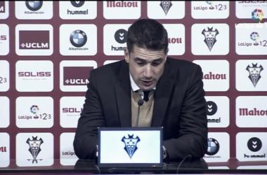 """Julio Velázquez: """"El primer gol nos ha condicionado durante todo el partido"""""""