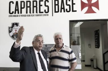 Presidente Eurico Miranda e o vice-presidente médico Dr. Egas Manoel na inauguração do Caprres/Base. (Foto: Carlos Gregório Jr/Vasco)