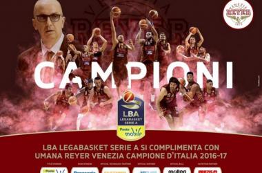 Venezia campione d'Italia - foto twitter Legabasket