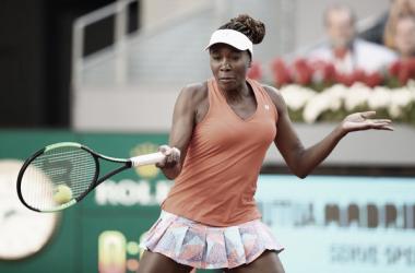 Venus Williams anunció su baja para el Mutua Madrid Open