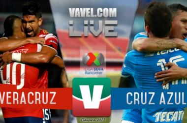 Resultado y goles del Veracruz 3-1 Cruz Azul de la Liga MX 2017