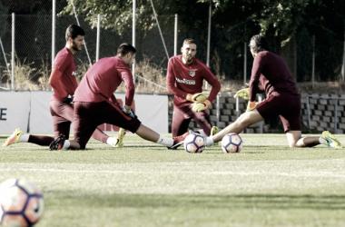 Pablo Vercellone, esencial en la cuádriga de Simeone. || FOTO: Atlético de Madrid