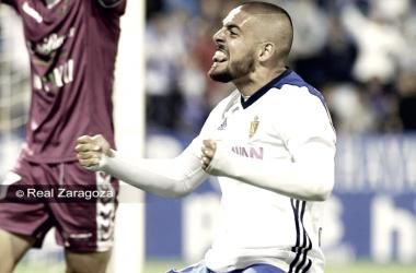 Verdasca celebró como un aficionado más aquél penalti | Foto: Real Zaragoza
