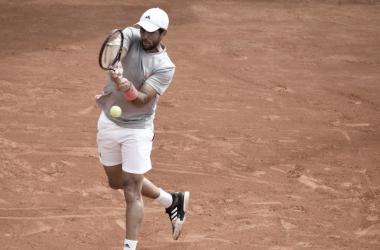 Fernando Verdasco durante su partido de primera ronda. Foto: Barcelona Open.