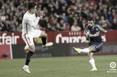 Verde tira a puerta en el encuentro ante el Sevilla en el Pizjuán | LaLiga