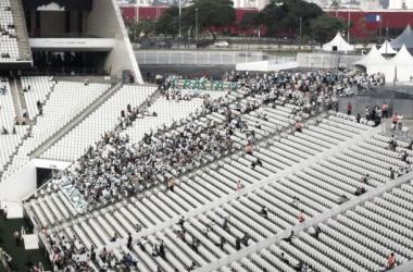 Torcida palmeirense lotou seu espaço destinado, mas causou estragos (Foto Rafael Barbosa/ VAVEL Brasil)