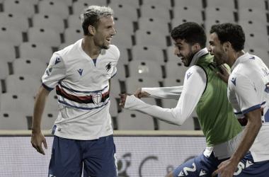 Com gol na reta final, Sampdoria vence Fiorentina e conquista primeiros pontos na Serie A