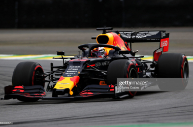 Max Verstappen of the Netherlands driving the Aston Martin Red Bull Racing RB15 on track during qualifying for the F1 Grand Prix of Brazil (Photo credit: Charles Coates, Getty Images)