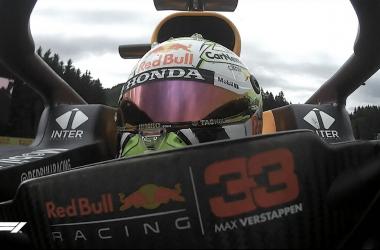Max Verstappen lidera los libres 2 del GP de Estiria. (Fuente: Twitter @F1)