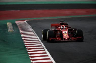 Vettel, en los tests | Foto: LAT Images