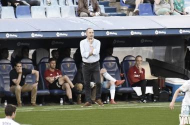 Víctor Fernández durante un encuentro disputado en La Romareda. // Foto: Andrea Royo