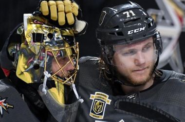 Fleury and Karlsson were instrumental in Vegas' run to the final, can they bring the band back together this year? (Photo: NHL.com)
